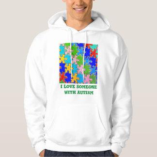 Veste À Capuche J'aime quelqu'un avec l'autisme