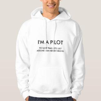 Veste À Capuche Je suis UN PILOTE