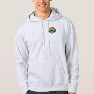 Veste À Capuche 👍 Jersey de Sun, de montagne, de lac et d'arbres
