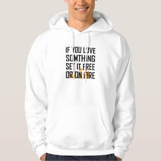 Veste À Capuche L'amour quelque chose a placé librement ou le feu