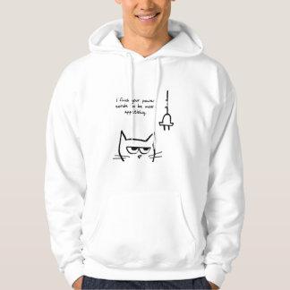 Veste À Capuche Le chat fâché mâche vos cordons de secteur