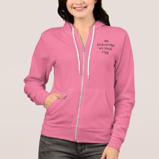 Veste À Capuche Le mercredi où nous portons le slogan rose fermez