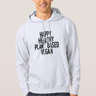 Veste À Capuche Le plante sain heureux a basé le végétalien (le