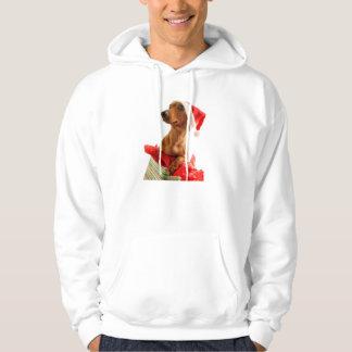 Veste À Capuche Le teckel père Noël - le chien de père Noël -