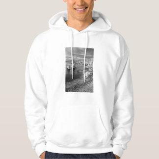 Veste À Capuche Littoral de plage de B&W, la Californie