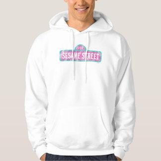 Veste À Capuche Logo rose de signe de Sesame Street