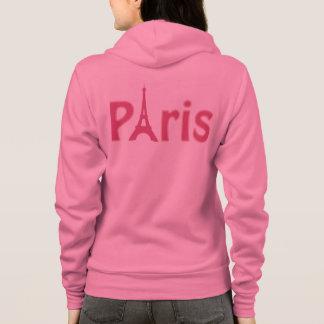 Veste À Capuche Paris rose
