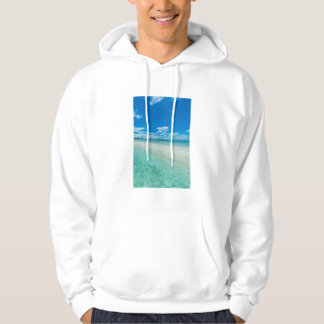 Veste À Capuche Paysage marin tropical bleu, Palaos
