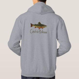 Veste À Capuche Pêche de truite de crochet et de libération
