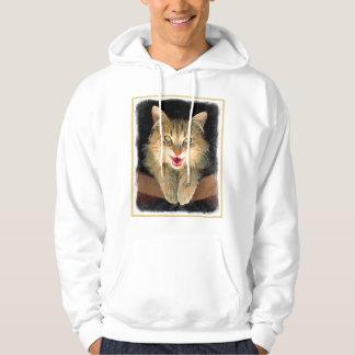 Veste À Capuche Peinture folle de chat - art original mignon de