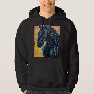 Veste À Capuche Peinture noire de cheval