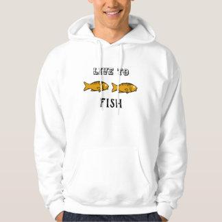 Veste À Capuche poissons nageant