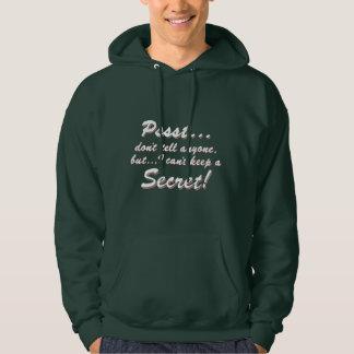 Veste À Capuche Pssst… je ne peux pas garder un SECRET (blanc)