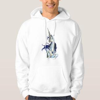 Veste À Capuche Rouge de poney de cheval de bleu royal de licorne