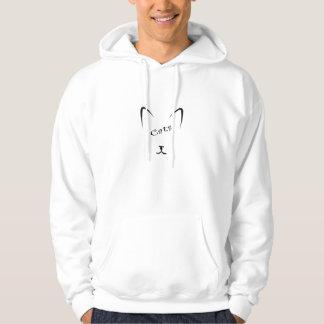 Veste À Capuche silhouette de visage de chat