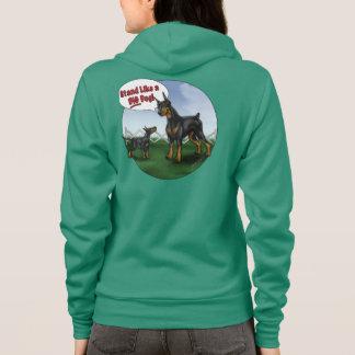 Veste À Capuche Support comme un grand chien Hoody !