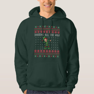 Veste À Capuche Tamponner complètement Noël laid d'Elf