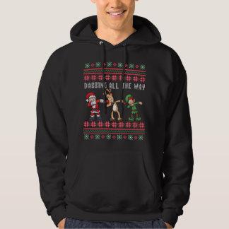 Veste À Capuche Tamponner complètement Noël laid d'Elf de renne de