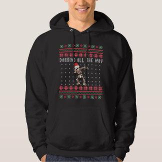 Veste À Capuche Tamponner complètement Noël laid squelettique de