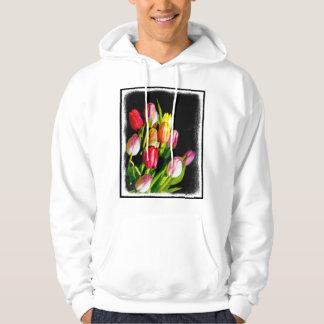 Veste À Capuche Tulipes