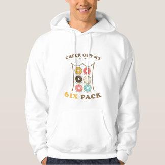 Veste À Capuche Vérifiez ma chemise de beignet de paquet de six