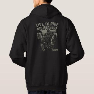 Veste À Capuche Vivez pour monter, monter à la moto vivante