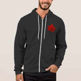 Veste à capuchon de drapeau du Canada de sweat -