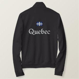 Veste Brodée Drapeau du Québec