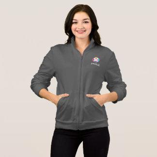 Veste de l'ouatine des femmes dans le gris