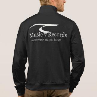 Veste Ils emmitouflent Masculin de Fleece Noir Music 7