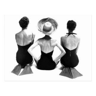 Vêtements de bain 1950 de mode carte postale