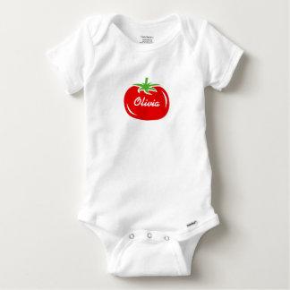 Vêtements personnalisés de bébé avec la tomate body