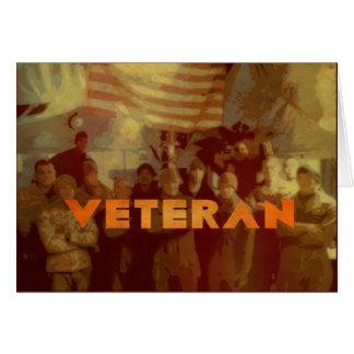 Vétéran américain - les militaires de jour de carte de vœux