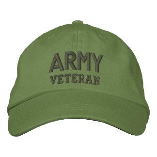 Vétéran d'armée casquette brodée