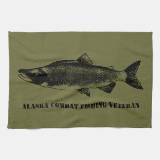 Vétéran de pêche de combat de l Alaska Serviette Éponge