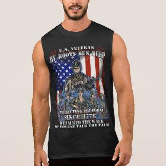 Vétéran des États-Unis que mes racines courent T-shirt Sans Manches