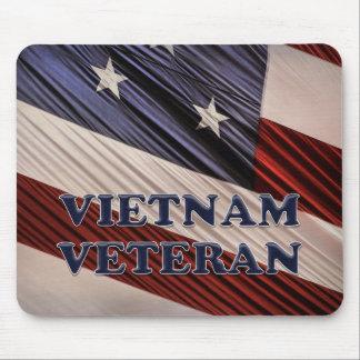 Vétéran patriote militaire du Vietnam de drapeau Tapis De Souris