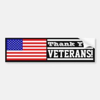 Vétérans de Merci ! Autocollant Pour Voiture