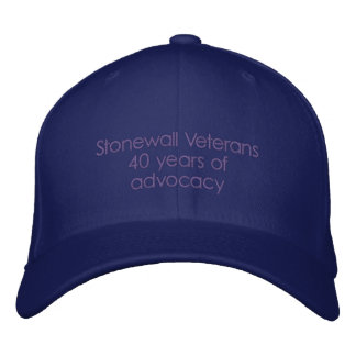 Vétérans de Stonewall 40 ans de recommandation Casquette Brodée