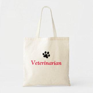 Vétérinaire avec l'empreinte de patte noir sacs fourre-tout