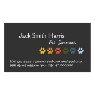Vétérinaire coloré d'animal familier de chien de p cartes de visite professionnelles