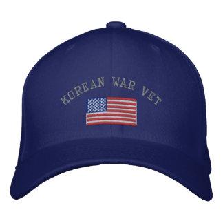 Vétérinaire coréen avec des militaires de drapeau casquette brodée