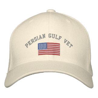 Vétérinaire de golfe Persique avec le drapeau Casquette Brodée