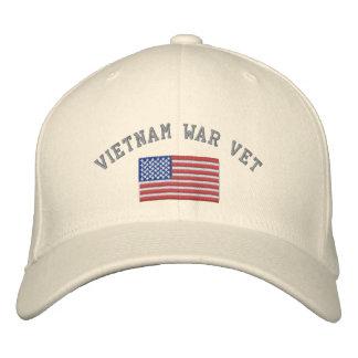 Vétérinaire de guerre de Vietnam avec le drapeau Casquette Brodée