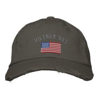 Vétérinaire du Vietnam avec le drapeau américain Casquette Brodée