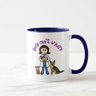 Vétérinaire féminin léger mug