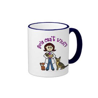 Vétérinaire féminin léger mug ringer