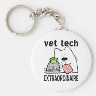 vétérinaire+vétérinaire de porte-clé rond