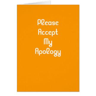 Veuillez agréer ma carte de voeux d'excuses