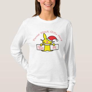 Veuillez empiler les cadeaux ici t-shirt